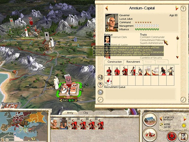Download the Rome - Total War patch 1.5. Saved games from version 1.2
